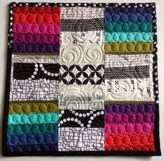 Quilty Habit: Cross of Rainbows: A Mini Quilt