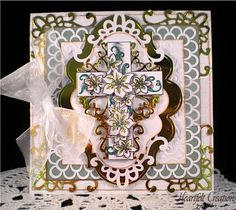 Heartfelt Creations | Distressed Cross and Lilies