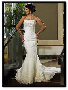 sexy ivory wedding dress
