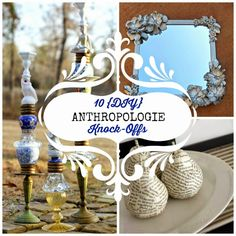 10 DIY {Anthropologie Knock-Offs} - Round Up Mondays | Fun Home Things