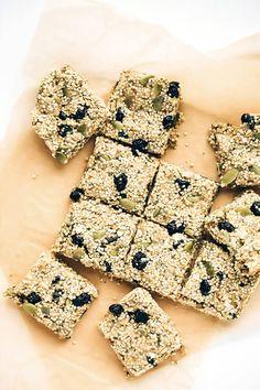 Chewy Vegan Blueberry Millet-Quinoa Snack Bars