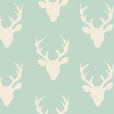 Hello Bear fabric by Bonnie Christine for Art Gallery Fabrics- Buck Forest Mint, Green fabric, Fat Quarter, You Choose the Cut