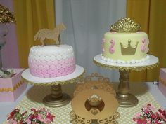 Amazing cakes at a Princess Party.  See more party ideas at CatchMyParty.com.  #princesspartyideas