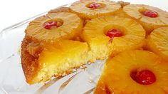 Yummy and Tasty Pineapple upside down cake Recipe try at home,,, Köstliche Desserts, Delicious Desserts, Dessert Recipes, Yummy Food, Cake Recipes, Bolo Cake, Pineapple Upside Down Cake, Pineapple Cake, Canned Pineapple