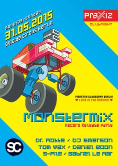 MONSTERMIX Vol 2 - The time of the monsters has begun! Join the release party on May with DJ Emerson, Tom Wax, Daniel Boon, S-File, Gabriel Le Mar and Dr. Berlin, Electronic Music, Music Music, Emerson, My Love, Lineup, Gabriel, Party, Culture