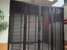 1 new message Metal Stairs, Metal Gates, Iron Gates, Gate Designs Modern, Modern Design, Tor Design, House Design, Stainless Steel Gate, Iron Gate Design
