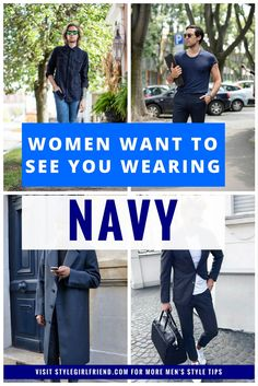 Discover how to wear navy at stylegirlfriend.com | how to wear more color, how to wear more color outfit, how to style with color, how to add color to your wardrobe, mens colorful fashion, changing your wardrobe, changing your wardrobe how to, how to dress colors, styling navy, navy outfit, navy outfit for men, how to wear navy, how to wear navy blue, how to wear navy in fall, how to wear navy in winter, what to wear with blue, what to wear with blue dress pants, what to wear with blue…