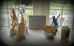 Message in a bottle for baby at a beach themed shower!