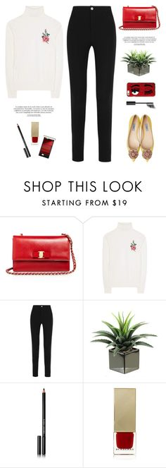 """""""..."""" by yexyka ❤ liked on Polyvore featuring Salvatore Ferragamo, Gucci, Givenchy, Bobbi Brown Cosmetics, Burberry, Chiara Ferragni and Chanel"""