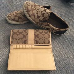 Authentic Coach wallet Brown leather, Coach Accessories