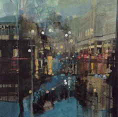 ARTFINDER: After the rain, Debenhams, Eastbourne... by Julian Sutherland-Beatson - Part of my new 'At Home and Abroad' daily painting project comprising acrylic paintings of the countryside, coastline and urban areas of the UK and abroad. F...