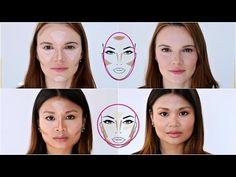 Konturování pro oválný a kulatý obličej s L´Oréal Paris - YouTube