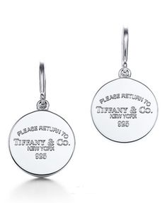 24746c367ebb Return to Tiffany   Co Round Tag Drop Earrings Tiffany And Co Earrings