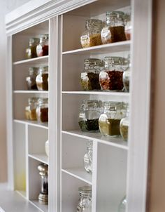 how to build a built-in spice shelf - or any shelf for that matter