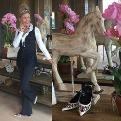 SIMPLE WORK LOOK Fransen Weste und Cut-out Hose von# High Schuhe #Erdem Erdem, High, Fair Grounds, Fringe Vest, Trousers, Breien