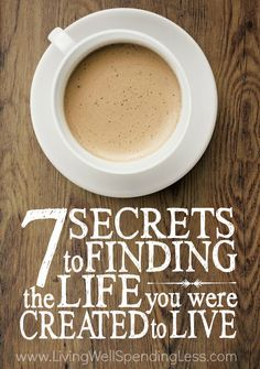 Ever feel like you've lost your way in life?  Sometimes just need to press the reset button.  Don't miss these 7 secrets to finding the life you were meant to live--a must read for anyone who feels like they've gone off track!