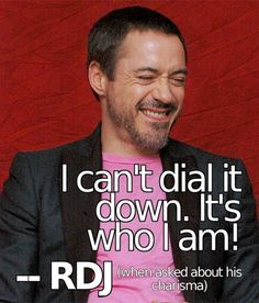Robert Downey Jr. this is why i love him