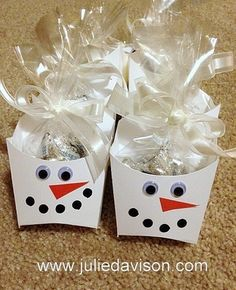 Julie's Stamping Spot -- Stampin' Up! Project Ideas Posted Daily: Snowman Fry Box