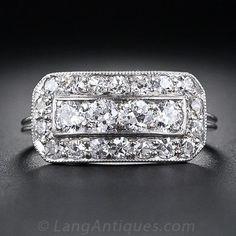 Art Deco Diamond Cigar Band Ring - 10-1-4853 - Lang Antiques