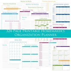 324-Page Printable Homemaker's Organization Planner - 2015 Basic Edition