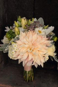 Bridesmaid bouquet, early September /// Love N' Fresh Flowers pretty but need more yello