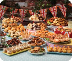 Traditional British Party Food.  Because I like all things British...