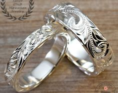 silver ring set on Etsy, a global handmade and vintage marketplace.