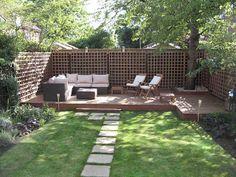 Great idea for a long thin garden