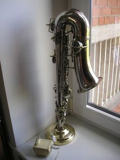Old Russian Saxophone Design Table Lamp | eBay