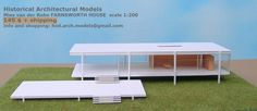 Mies van der Rohe black and white - 1:200 scale model - model's price 145 $ + shipping info & shopping: hist.arch.models@gmail.com