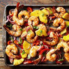 Jerk Shrimp, Sheet Pan Suppers, Recipe Creator, Food Reviews, Shrimp Recipes, Fish Recipes, Pasta Recipes, Cake Recipes, Dinner Recipes