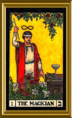 The Magician, card Tarot Major Arcana, Palmistry, Oracle Cards, Tarot Decks, Archetypes, Numerology, Tarot Cards, The Magicians, Mystic