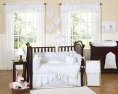 White Eyelet Crib Bedding | French Country Nursery | Free Shipping