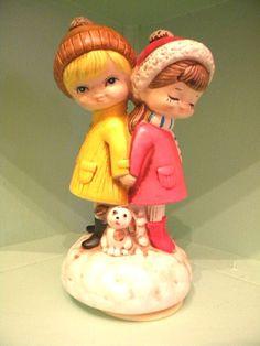 Winter Love Vintage Music Box