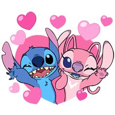 Stitch and Angel are bringing the love in this animated sticker set! The adorable couple's cute expressions and movements are a touching way to send your love to that special someone. Angel Lilo And Stitch, Lelo And Stitch, Lilo And Stitch Quotes, Lilo Y Stitch, Cute Stitch, Cute Cartoon Wallpapers, Cute Wallpaper Backgrounds, Wallpaper Iphone Cute, Disney Stitch
