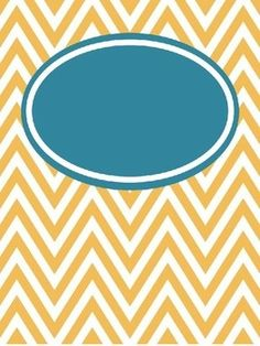 FREE Editable Chevron Binder Covers--lots of colors for organizing :)