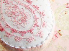 Pink Embroidered Pincushion