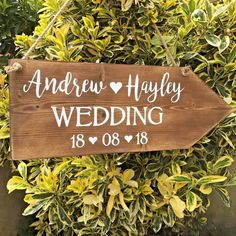 Large rustic wedding this way arrow. Large rustic personalised wedding direction arrow. personalised with your names and wedding date. Surrounded by lovely countryside and a small family run team, we hope this reflects in our lovely handmade products. | eBay!