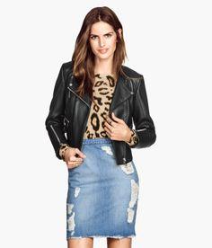 H&M leather biker jacket