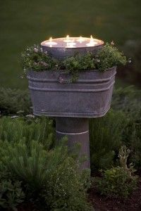 Dump A Day Spring garden ideas- floating candles - Dump A Day