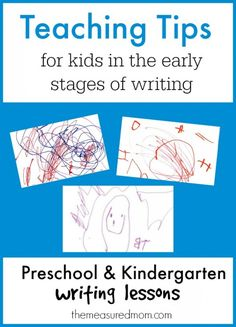 Love these tips for helping preschoolers and kindergartners learn to write!