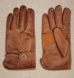 $225, Brown Leather Gloves: Belstaff Gipson Gloves In Leather. Sold by Belstaff. Click for more info: https://lookastic.com/men/shop_items/280286/redirect
