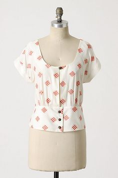 Tic-Tac-Toe Blouse #anthropologie floreat