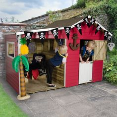 The Dixie Duo Traditional Kids Wooden Playhouse comes with its own veranda so children can play outside whatever the weather. Visit Shedstore for our fantastic range of playhouses. Kids Wooden Playhouse, Playhouse With Slide, Childrens Playhouse, Build A Playhouse, Playhouse Outdoor, Outdoor Play, Garden Playhouse, Garden Toys, Sheds Direct