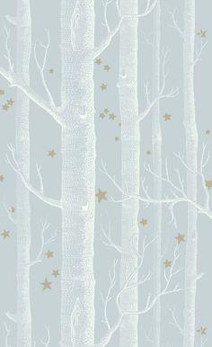 Papier peint Woods & Stars - Cole and Son Metallic Wallpaper, Star Wallpaper, Wood Wallpaper, Geometric Wallpaper, Wallpaper Online, Feather Wallpaper, Kitchen Wallpaper, Pattern Wallpaper, Wallpaper Backgrounds