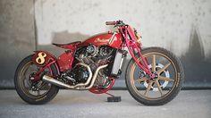 ϟ Hell Kustom ϟ: Indian Scout By Roland Sands Custom Paint Motorcycle, Motorcycle Types, Bobber Motorcycle, Motorcycle Design, Bike Design, Custom Motorcycles, Custom Bikes, Indian Motorcycles, Homemade Motorcycle