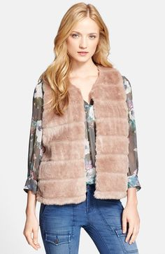 Joie 'Andrina' Faux Fur Vest available at #Nordstrom