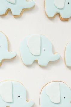 Cute!  hello naomi: cute elephant cookies!