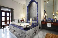 Lapislazuli Lapis Lazuli Badezimmerkonzept exklusive Atmosphaere