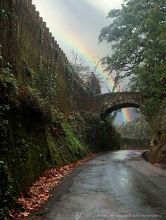 Roman pedestrian bridge over a natinal street at Penha Verde - Sintra, Portugal